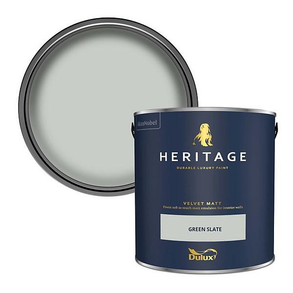 Dulux Heritage Matt Emulsion Paint - Green Slate - 2.5L