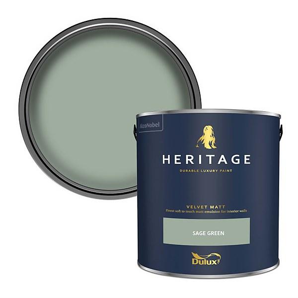 Dulux Heritage Matt Emulsion Paint - Sage Green - 2.5L