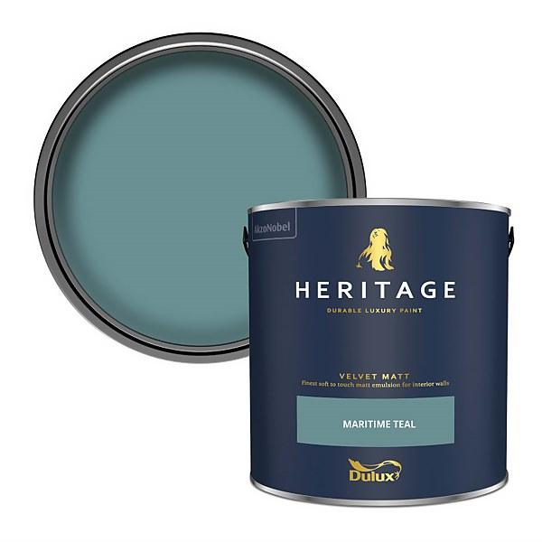 Dulux Heritage Matt Emulsion Paint - Maritime Teal - 2.5L