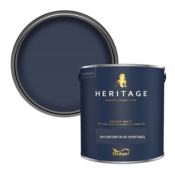 Dulux Heritage Matt Emulsion Paint -DH Oxford Blue - 2.5L