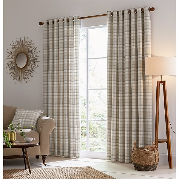 Helena Springfield Harriet Lined Curtains 66 x 54 - Taupe