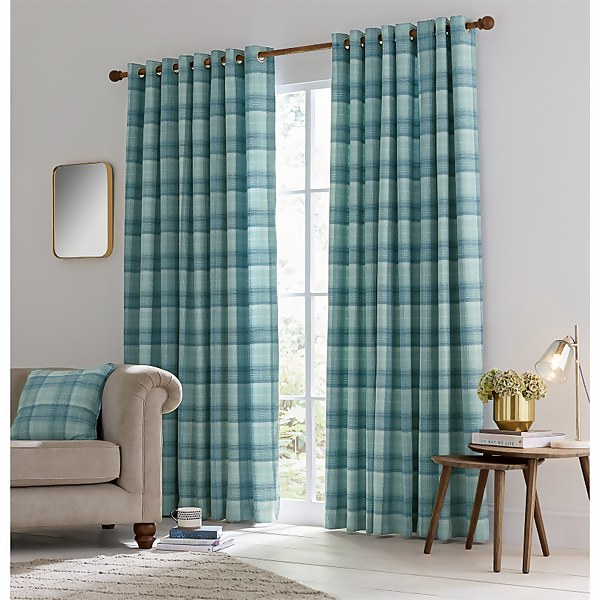 Helena Springfield Harriet Lined Curtains 66 x 54 - Duck Egg