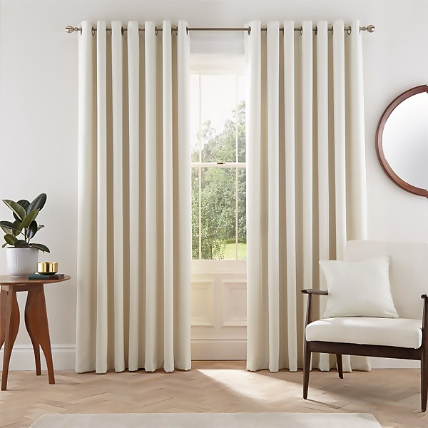 Helena Springfield Eden Lined Curtains 90 x 90 - Dove