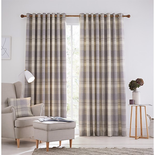 Helena Springfield Nora Lined Curtains 66 x 90 - Grape