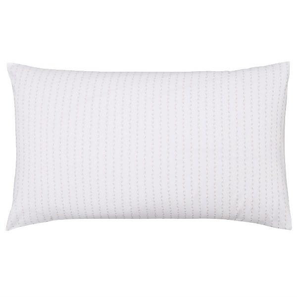Murmur Leaf Standard Pillowcase Pair - Linen