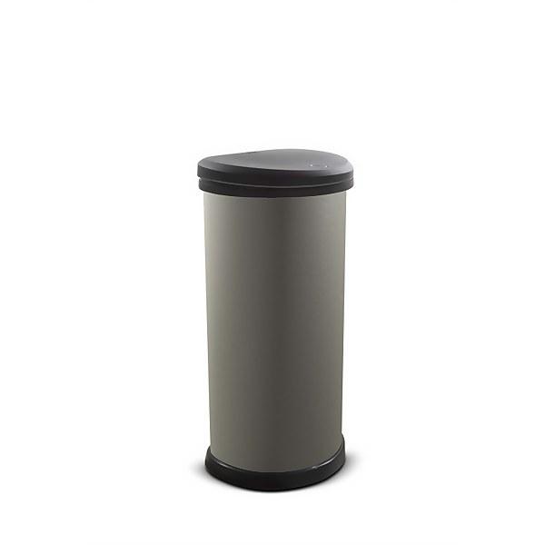 Curver 40L Deco Bin - Textured Grey