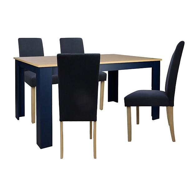 Marcy 4 Seater Dining Set - Midnight
