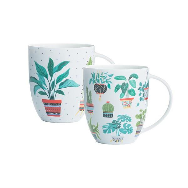 Price & Kensington Plants Assorted Bone China Mugs