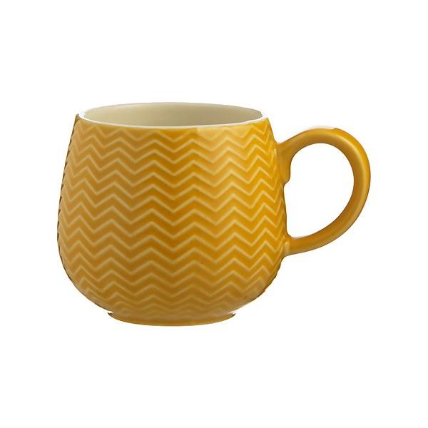 Mason Cash Embossed Chevron Ochre Mug