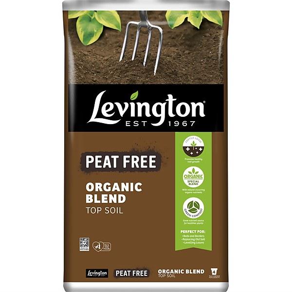 Levington Peat Free Organic Blend Top Soil 20L