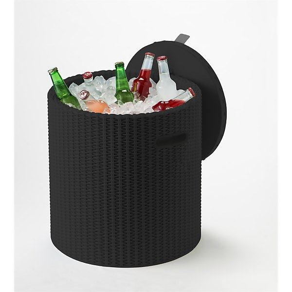 Keter Cool Stool Plastic Outdoor Ice Cooler Table 39L - Graphite
