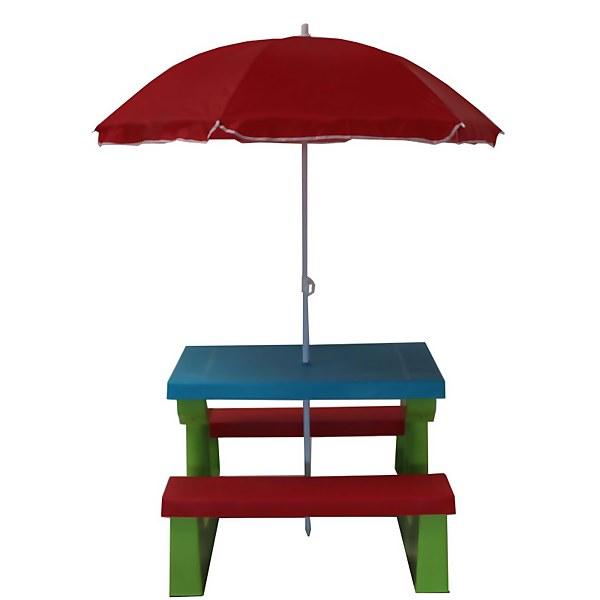 Kids Bench with Parasol - Multi-colour