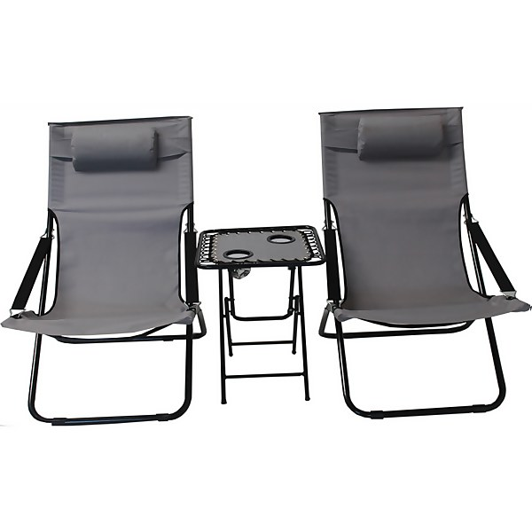 Camping chair and table set