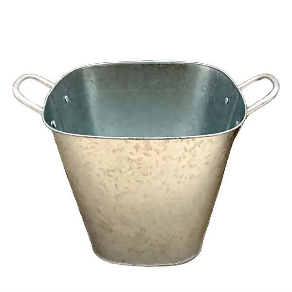Galvanised Square Pot - 30cm