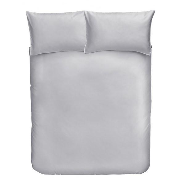 Cotton Duvet Cover Set - Double - Dove Grey
