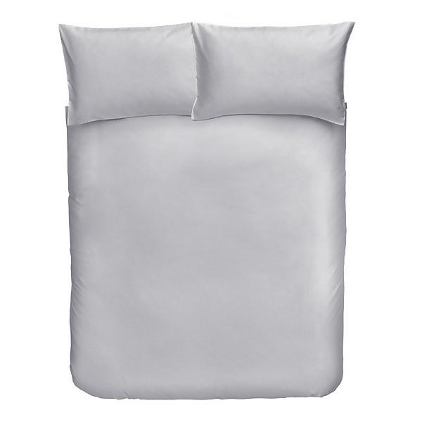 Cotton Duvet Cover Set - King - Dove Grey