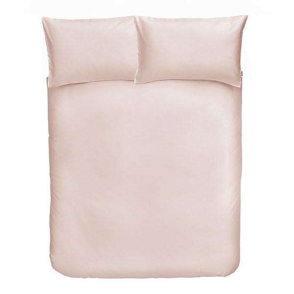 Cotton Duvet Cover Set - King - Blush