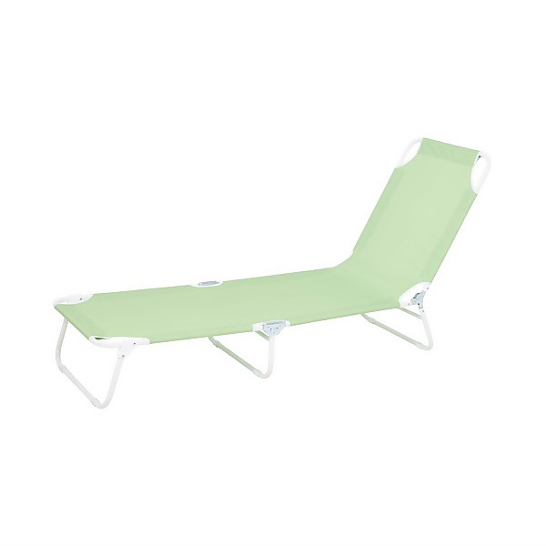 Homebase Bahari Folding Sunbed Lounger - Green