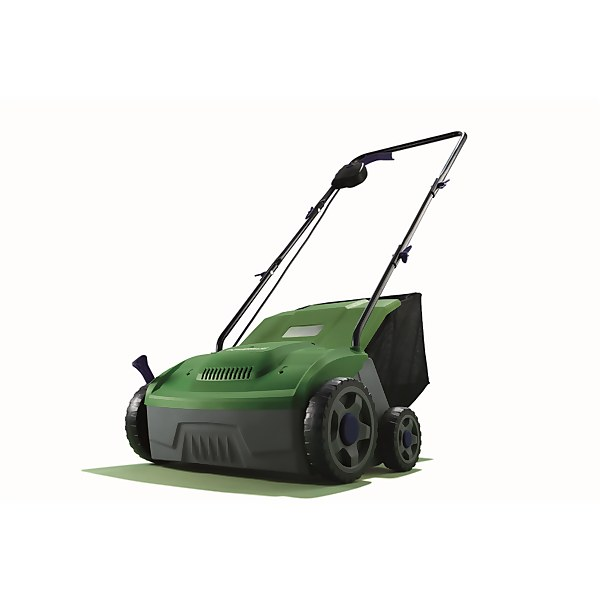 Powerbase 1400W Electric Lawn Rake Scarifier