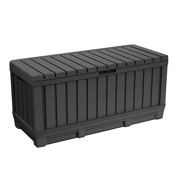 Keter Kentwood Outdoor Plastic Garden Storage Box 350L - Graphite