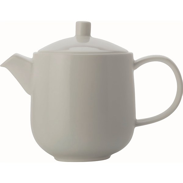 Maxwell & Williams Cashmere White Teapot, Fine Bone China with 6 Cups