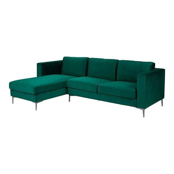 Donna Deco Lefthand Corner Sofa - Green