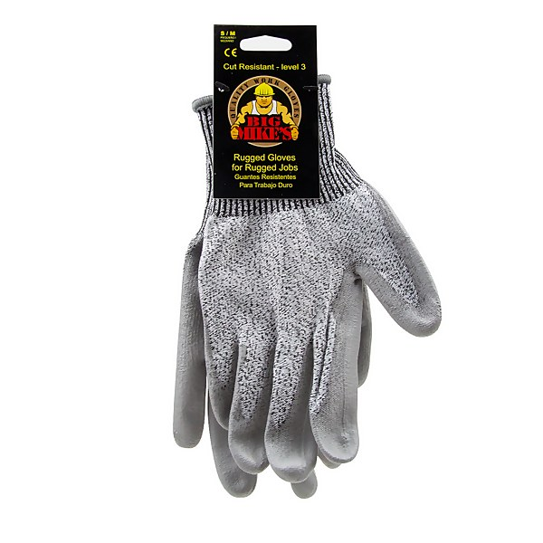 Big Mike's Cut Resistant Nitrile Dip Gloves - Small/Medium