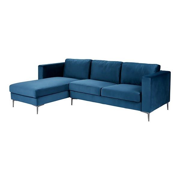 Donna Deco Lefthand Corner Sofa - Blue