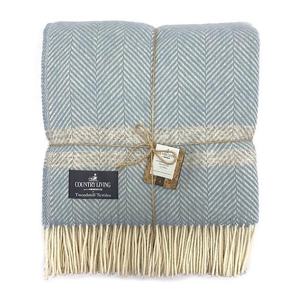 Country Living Wool Herringbone Stripe Throw - 150x183cm