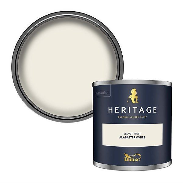 Dulux Heritage Colour Tester - Alabaster White - 125ml