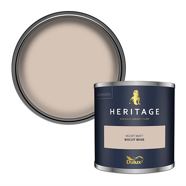 Dulux Heritage Colour Tester - Biscuit Beige - 125ml