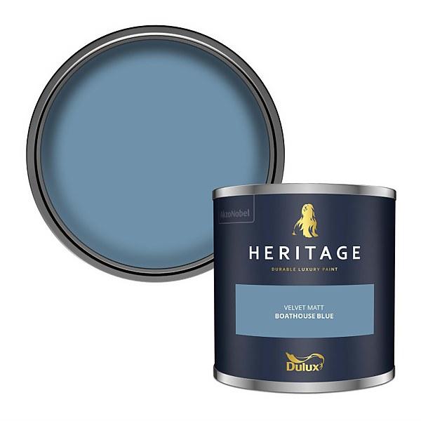 Dulux Heritage Colour Tester - Boathouse Blue - 125ml