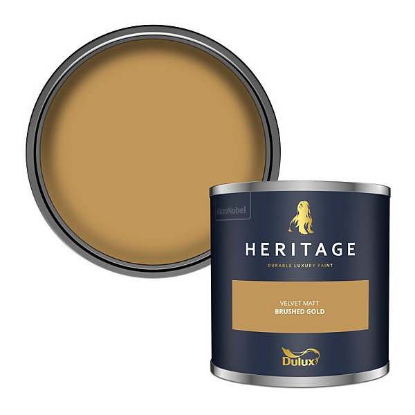 Dulux Heritage Colour Tester - Brushed Gold - 125ml