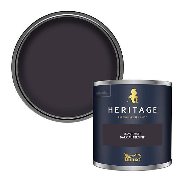 Dulux Heritage Colour Tester - Dark Aubergine - 125ml