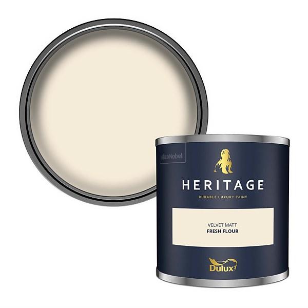 Dulux Heritage Colour Tester - Fresh Flour - 125ml