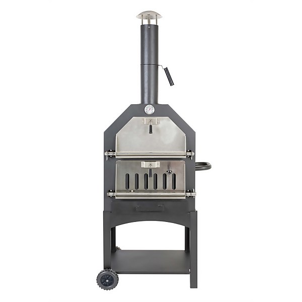 Lorenzo Steel Pizza Oven Smoker