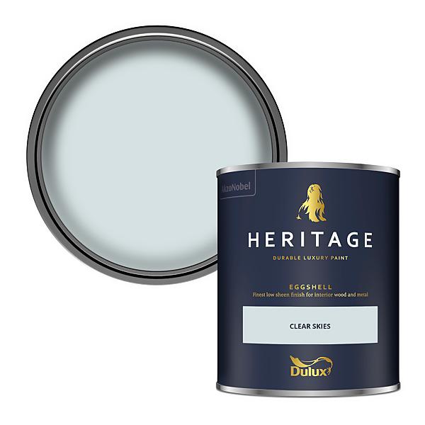Dulux Heritage Eggshell Paint - Clear Skies - 750ml