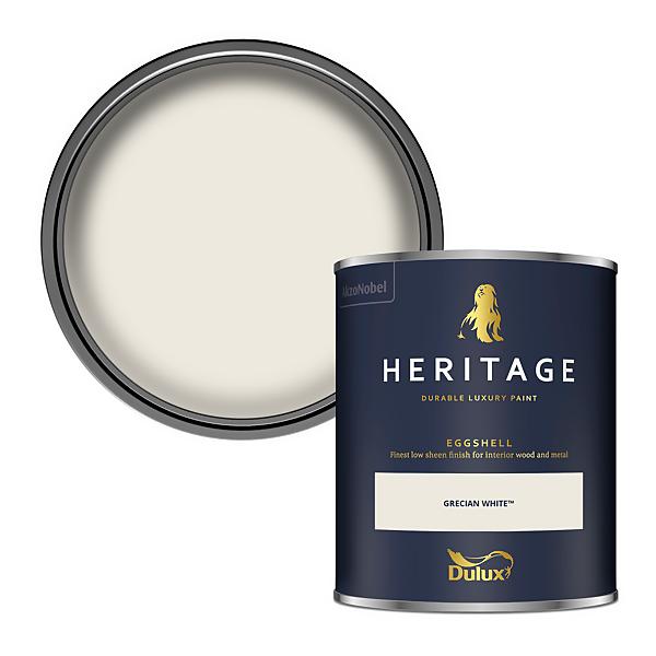 Dulux Heritage Eggshell Paint - Grecian White - 750ml