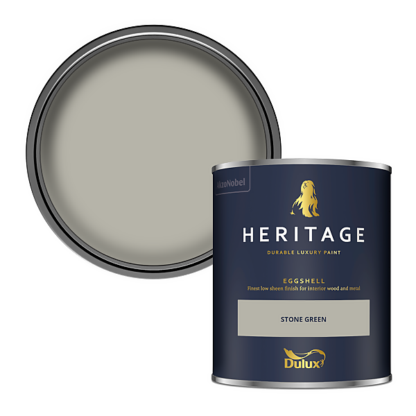 Dulux Heritage Eggshell Paint - Stone Green - 750ml