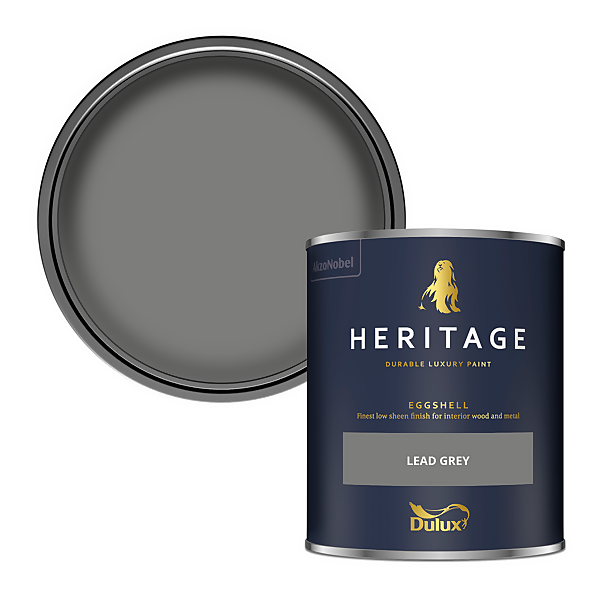 Dulux Heritage Eggshell Paint - Lead Grey - 750ml