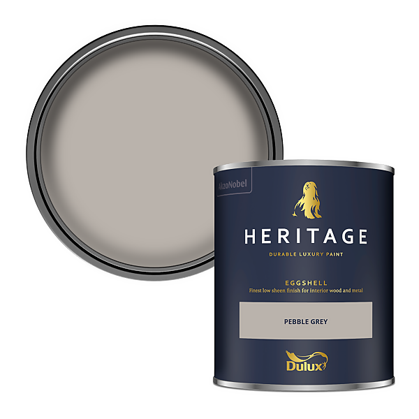 Dulux Heritage Eggshell Paint - Pebble Grey - 750ml