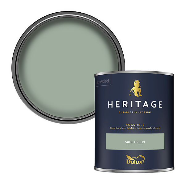 Dulux Heritage Eggshell Paint - Sage Green - 750ml