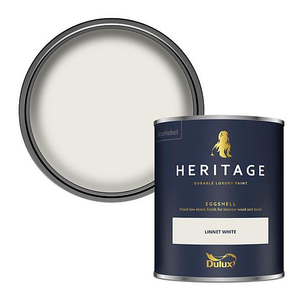 Dulux Heritage Eggshell Paint - Linnet White - 750ml