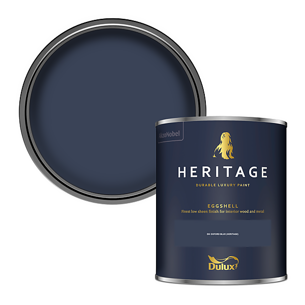 Dulux Heritage Eggshell Paint - DH Oxford Blue - 750ml