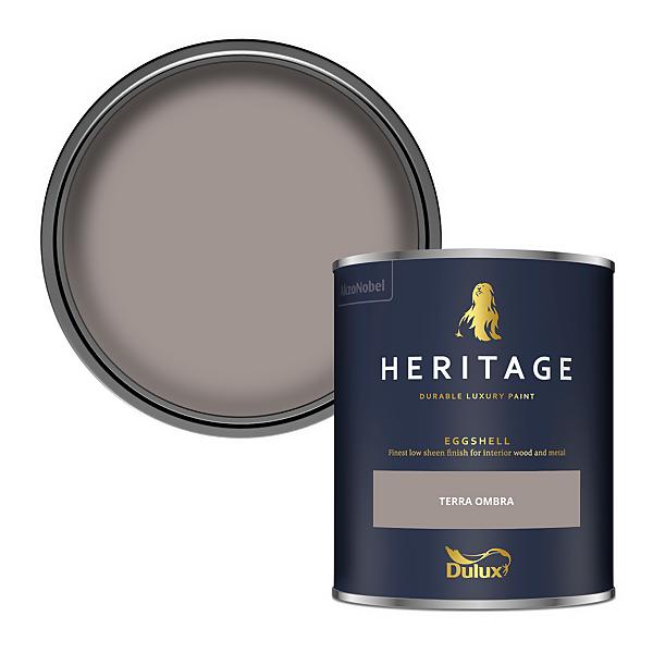 Dulux Heritage Eggshell Paint - Terra Ombra - 750ml