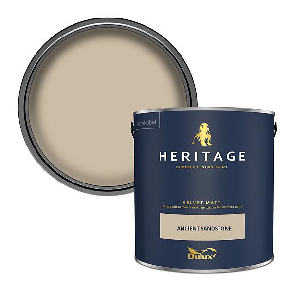 Dulux Heritage Matt Emulsion Paint - Ancient Sandstone - 2.5L