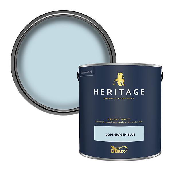 Dulux Heritage Matt Emulsion Paint - Copenhagen Blue - 2.5L