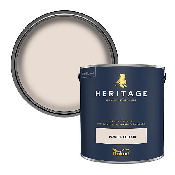 Dulux Heritage Matt Emulsion Paint - Powder Colour - 2.5L