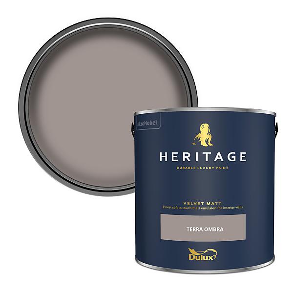 Dulux Heritage Matt Emulsion Paint - Terra Ombra - 2.5L