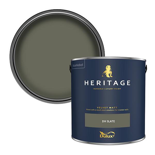 Dulux Heritage Matt Emulsion Paint - DH Slate - 2.5L